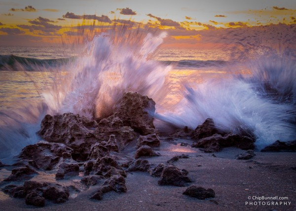 Sunrise Waves by Chip Bunnell Photography