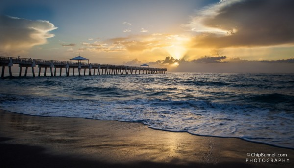 Juno Beach Sunrise by Chip Bunnell Photography