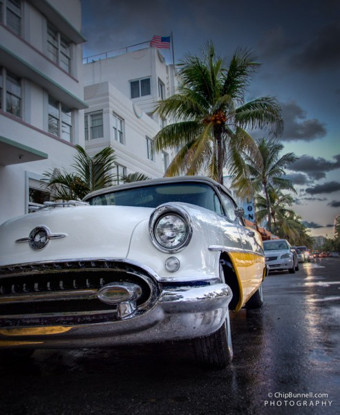 Oldsmobile on Miami Beach by Chip Bunnell Photography