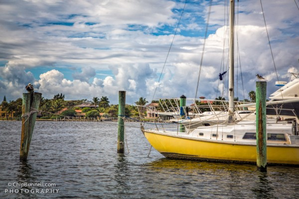 Sailboat at dock by Chip Bunnell Photography