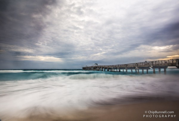 Moody beach morning by Chip Bunnell Photography