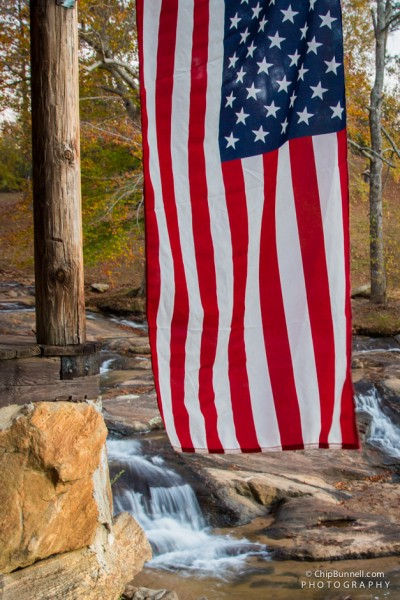 Chip Bunnell Photography Flag over Stream
