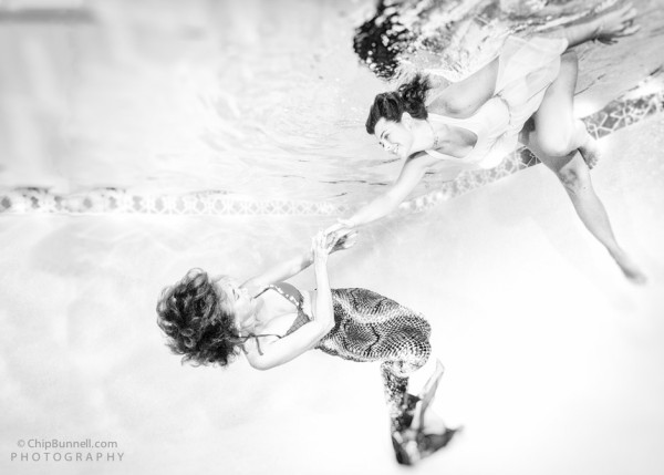Mermaid Dreaming Monochrome by Chip Bunnell Photography