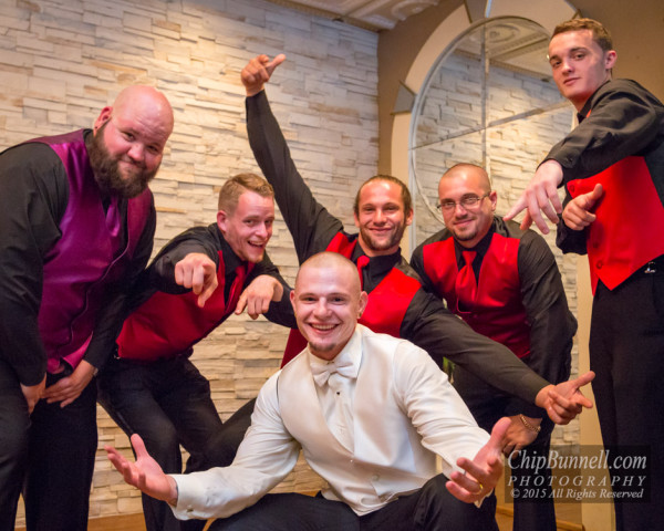 Troy and Groomsmen by Chip Bunnell Photograph
