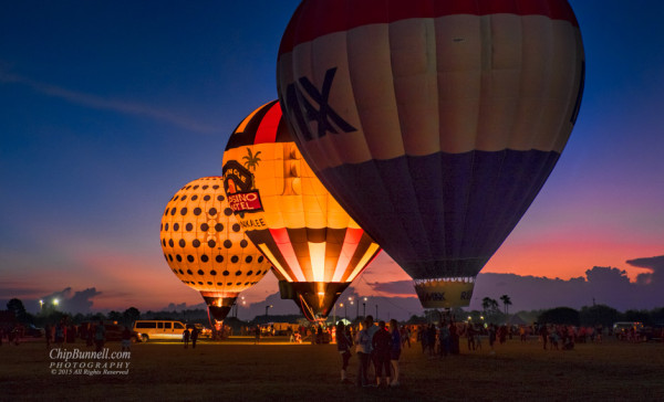 Sunrise Balloon Glow by Chip Bunnell Photography