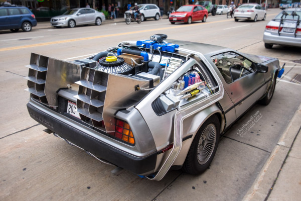 Back to the Future Delorean by Chip Bunnell Photography